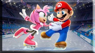 Mario and Sonic at the Sochi 2014 Olympic Winter Games: Figure Skating Pairs #10