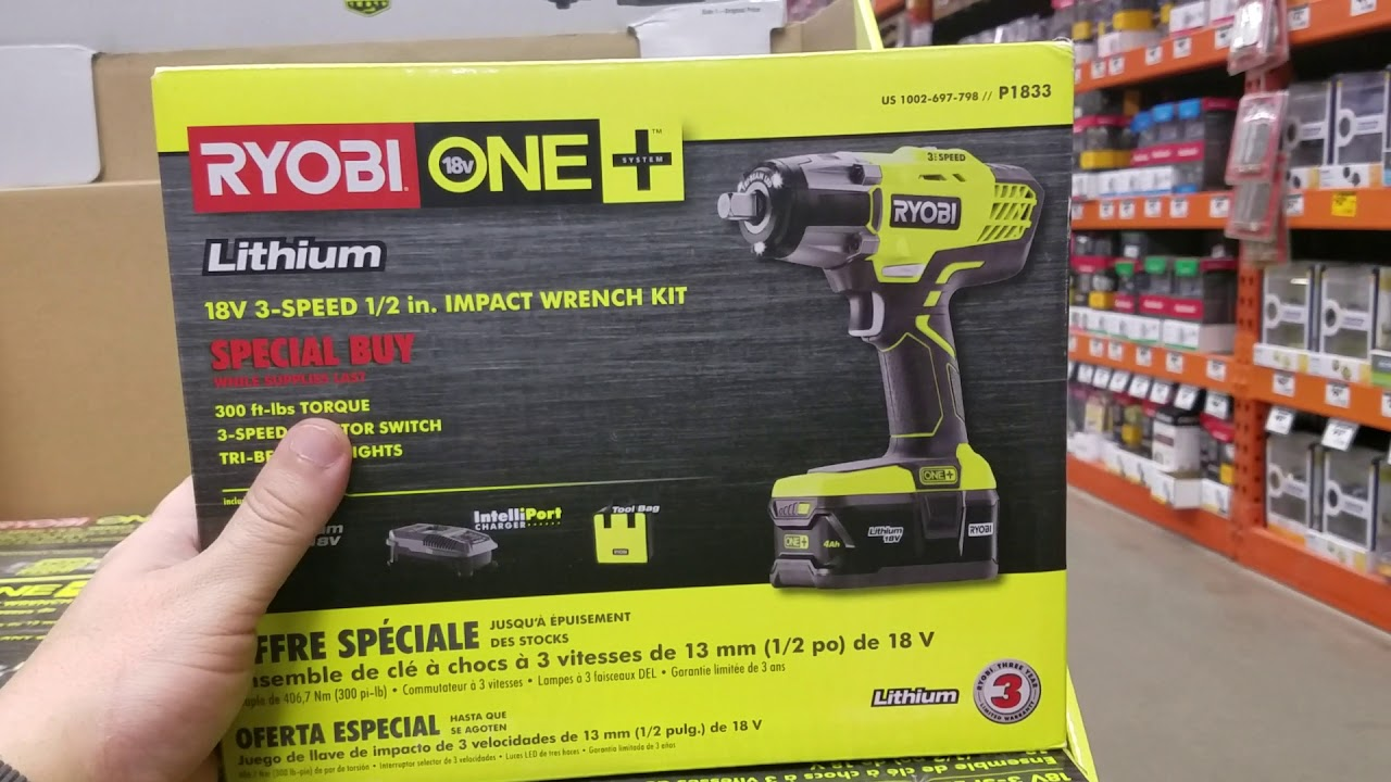 Ryobi 18v Impact Wrench Still Available 99 In