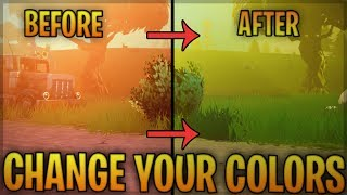 Fortnite How To Get Better/Brighter Colors! Saturate,Hue Fortnite!