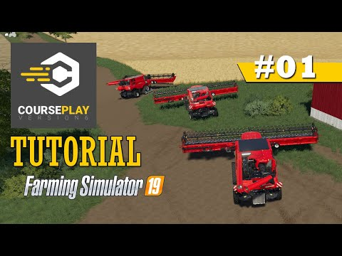 CoursePlay Tutorial: How To Run Multiple Harvesters In One Field | Farming Simulator 19