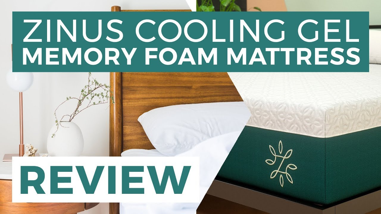 Zinus Cooling Gel Memory Foam Mattress Review   YouTube