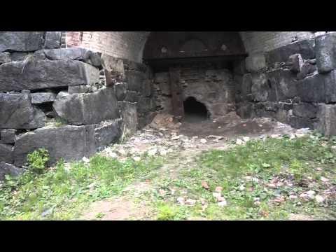 Adirondack ghost Town Tahawus. Iron blast furnace