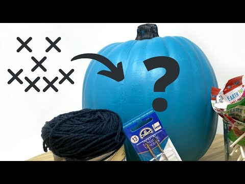 Can You Cross Stitch On A Fake Pumpkin? LIVE - October 17, 2020 Flosstube #6