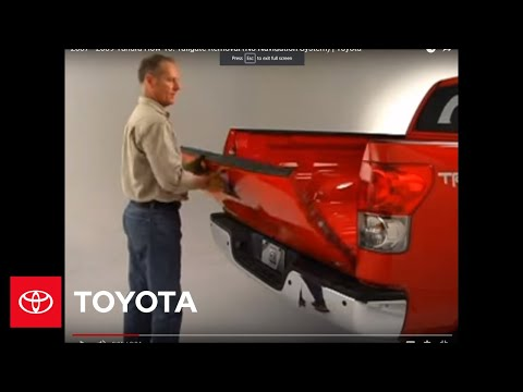 2007 - 2009 Tundra How-To: Tailgate Removal (No Navigation System)   Toyota