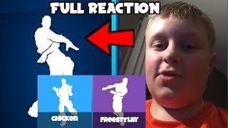 *2 NEW Leaked Fortnite Emotes* Orange Shirt Kid Full Reaction To Orange Justice! (Original Fortnite)