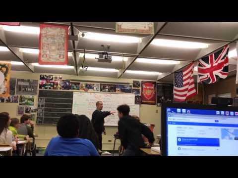 Teacher throws snowball at student!