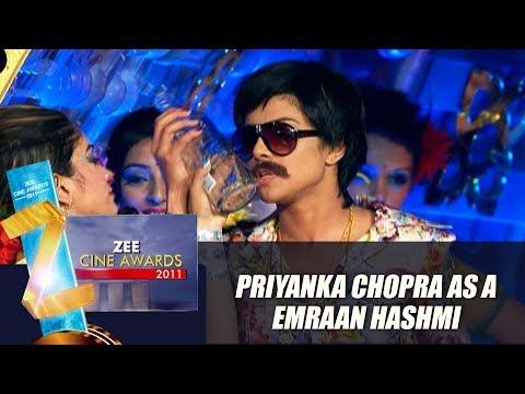 Priyanka Chopra As Emraan Hashmi | Zee Cine Awards 2011