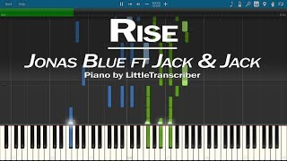 Jonas Blue - Rise (Piano Cover) ft Jack & Jack Synthesia Tutorial by LittleTranscriber