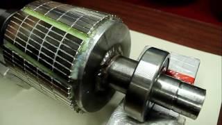 видео Генератор из асинхронного двигателя своими руками. Как переделать асинхронный двигатель в генератор