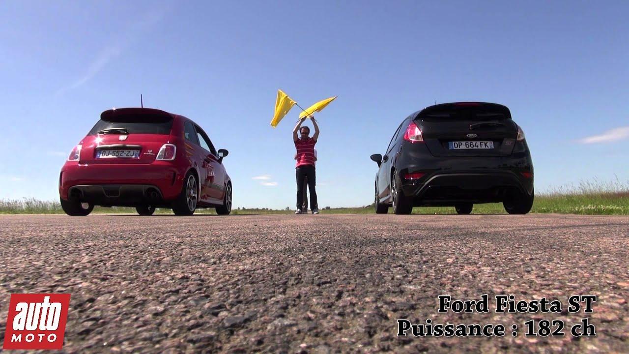 2015 abarth 595 competizione vs ford fiesta st : 200m départ