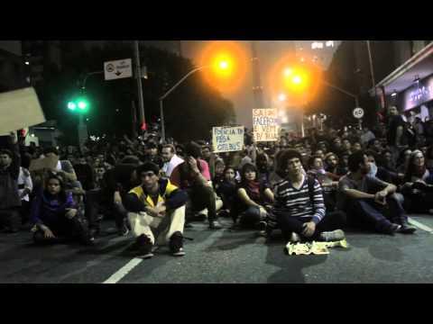 Brazil São Paulo's under protest!