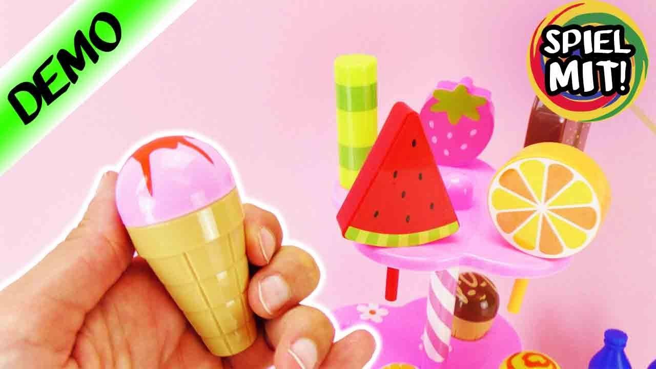 kaufmannsladen zubeh r s es eis set f r kinder melone erdbeere vanille schoko eis zum. Black Bedroom Furniture Sets. Home Design Ideas