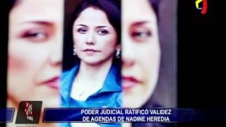Sala de Apelaciones confirma validez de agendas en caso Nadine Heredia