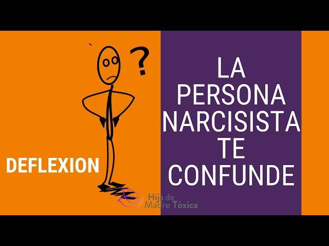 La persona narcisista te CONFUNDE para controlarte. DEFLEXION.