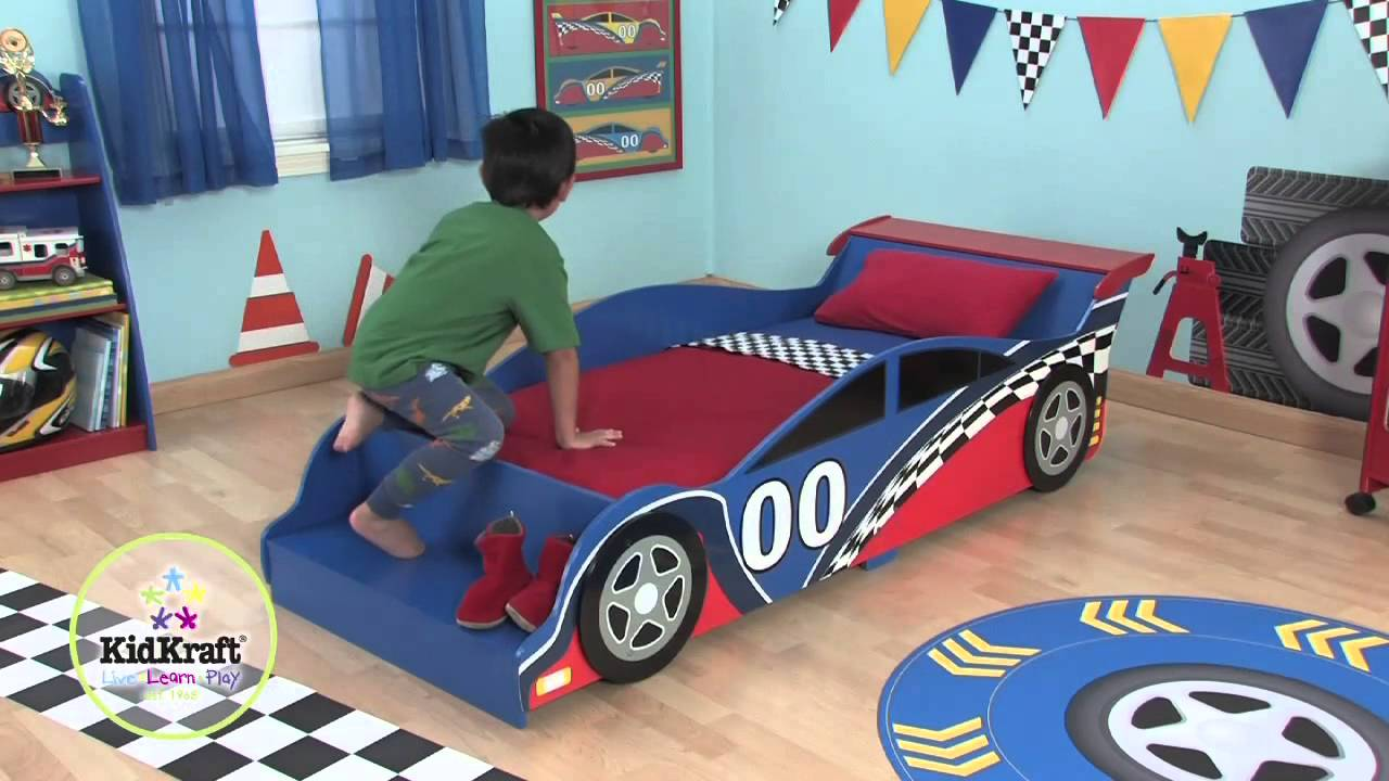 Lit voiture de course gar on youtube - Voiture de course enfant ...