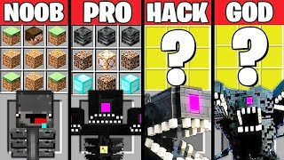 Minecraft Battle: WITHER STORM MUTANT CRAFTING CHALLENGE - NOOB vs PRO vs HACKER vs GOD ~ Animation