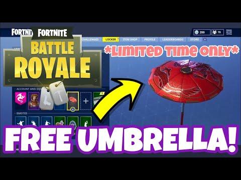 Free Red Dragon Umbrella / Glider Fortnite Battle Royale