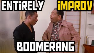 John witherspoon's improv comedy in the movie  boomerang.