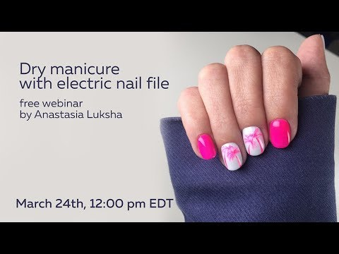 Dry manicure with electric nail file. How to achieve clean cuticles