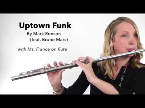 Uptown Funk!  by Mark Ronson (feat. Bruno Mars) on FLUTE