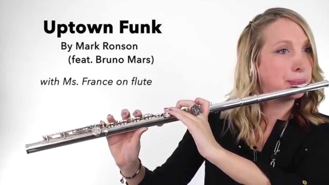 Uptown Funk! by Mark Ronson (feat  Bruno Mars) on FLUTE