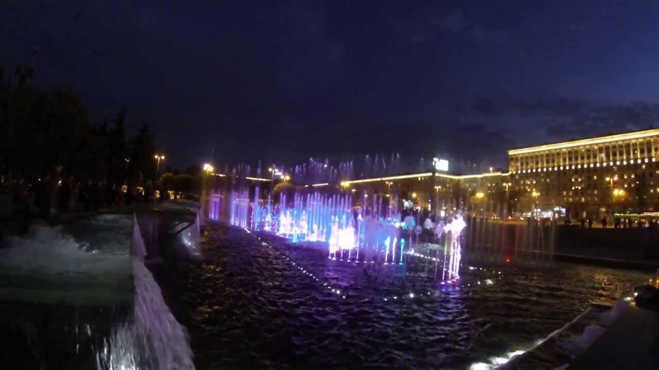 Поющие фонтаны в питере видео