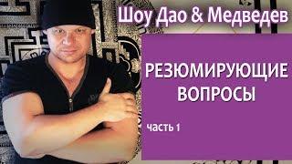 Медведев & Шоу Дао  Резюмирующие вопросы, ч 1