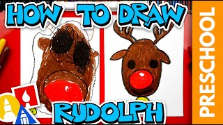 How To Draw Rudolph -  Preschool