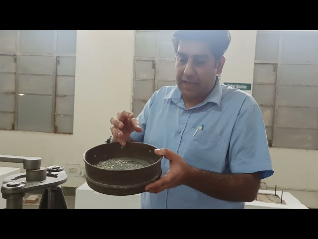 To Seprate Particle Size Distrubution by Mechanical Sieves Shaker