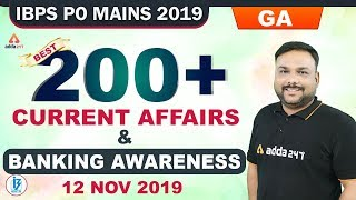 IBPS PO 2019 | Best 200+ Current Affairs & Banking Awareness
