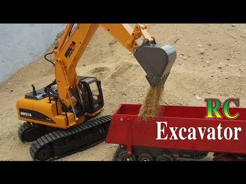 Excavator RC Review | Huina Toys 1550