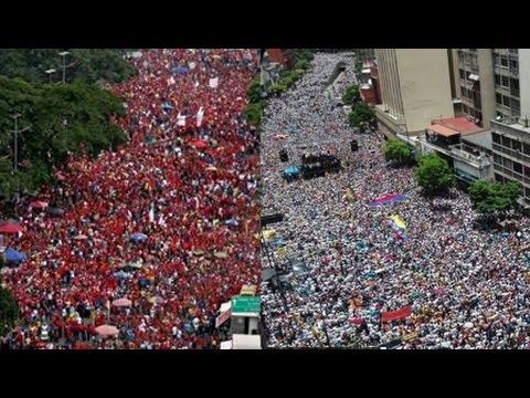 Massive Pro and Anti Government Demonstrations in Venezuela