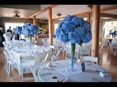DIY Blue Wedding Table Decoration Ideas