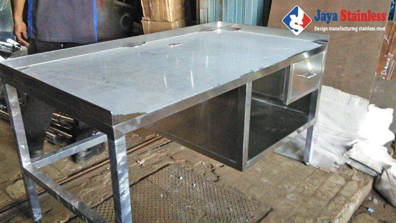 081310045708 Meja Dapur Stainless Steel Work Table Kerja