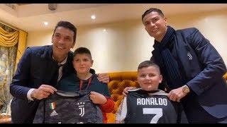 Terremoto Albania: Ronaldo e Buffon incontrano due bambini colpiti
