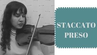 COMO FAZER STACCATO PRESO | Aulas de Violino Para Iniciantes
