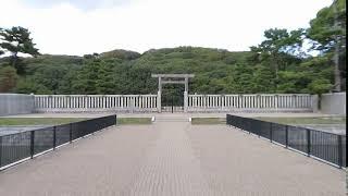 仁徳天皇陵 紅葉 堺市.
