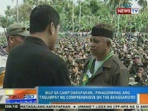 NTG: MILF sa Camp Darapanan, ipinagdiwang ang pagpirma sa peace agreement