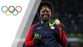 Carter becomes the first ever USA woman to win the shot put Olympic gold