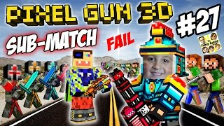 Dad & Son play Pixel Gun 3D! %$@CURSE WORDS#!@ FGTEEV vs. SUBSCRIBERS FAIL! (Part 27)