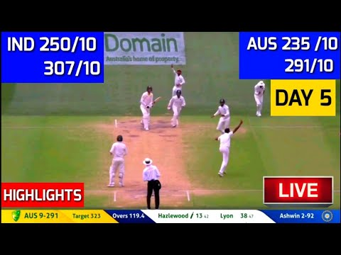 Highlights : India vs Australia 1st Test Day 5 | India beat Australia by 31 runs I ind vs aus