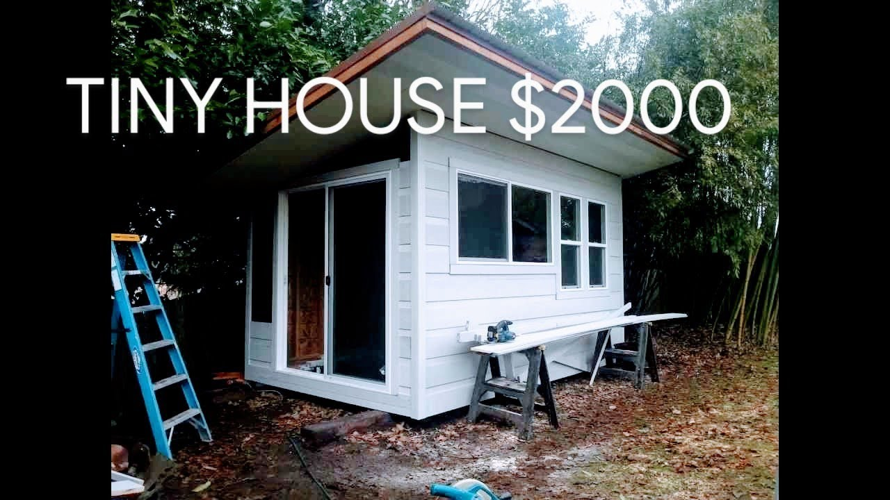 how to build a tiny house in a week for 2000 youtube rh youtube com small cabin to build small cabin cost to build