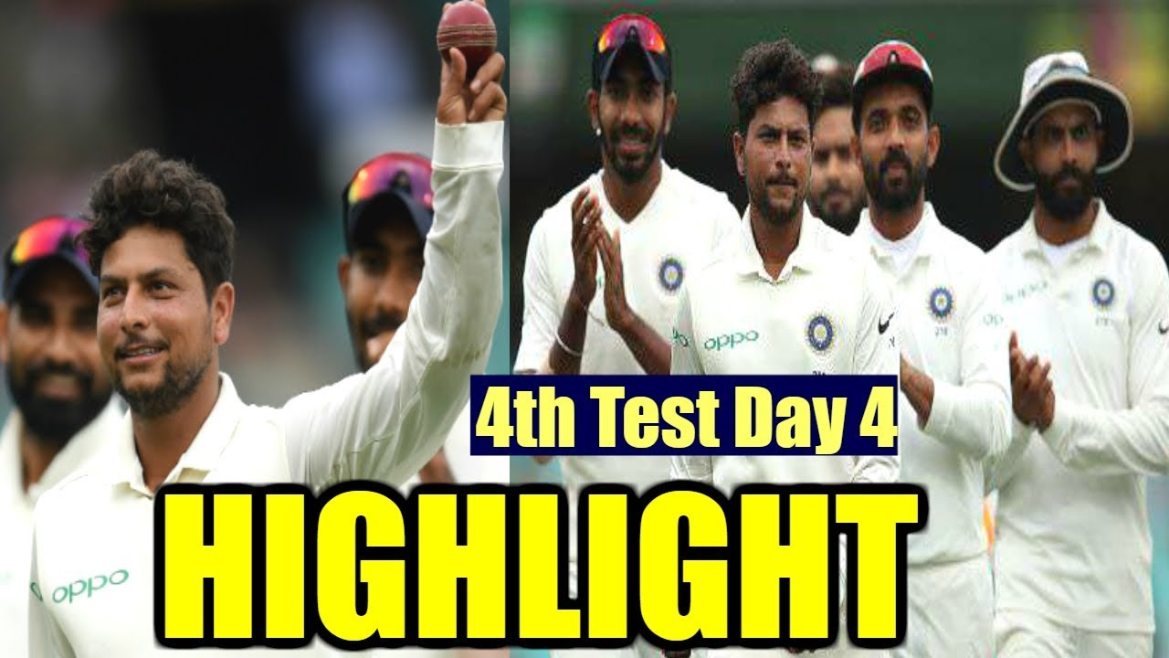 India Vs Australia - 4th Test Day 4 Highlight | IND Vs AUS Cricket Live Score