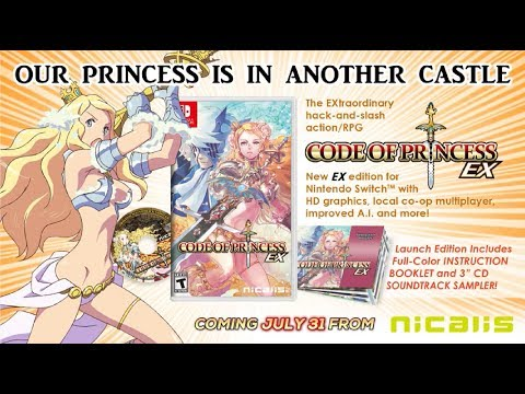 CODE OF PRINCESS EX Coming to Nintendo Switch on July 31!