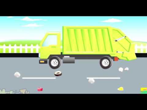 Xe chở rác -  quái vật xe tải -  hoạt hình cho trẻ em