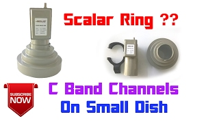 What Is Scalar Ring ?? | How Does It Work ? | Watch C Band Channels On Small Dish