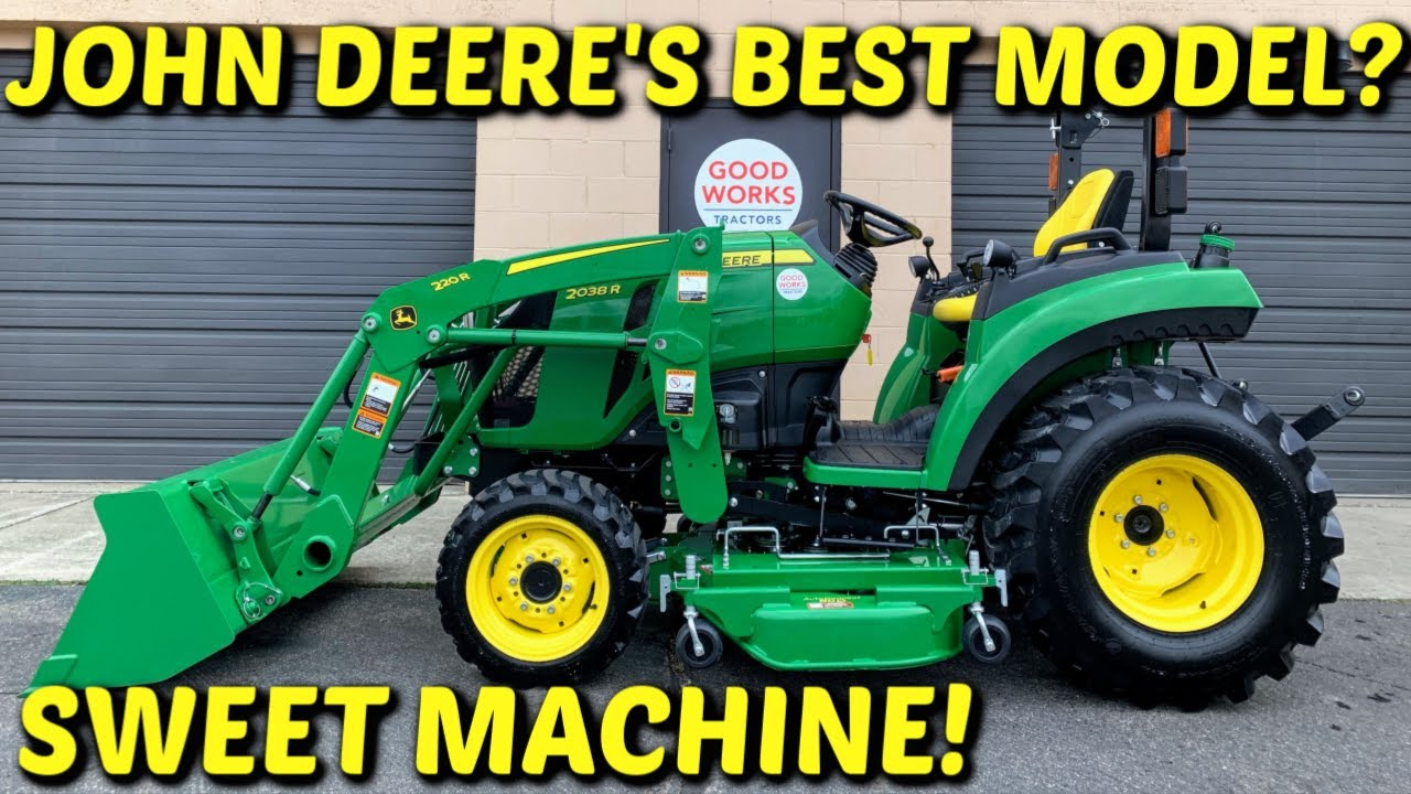 John Deere 2038r Tractor Overview, 220r Loader, AutoConnect 60