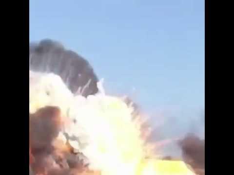 video1احتراق 14 سفينة إيرانية في ميناء بوشهر