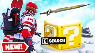Nouveau 'GLITCH' INFINITY SWORD Lucky Block GAME MODE In Fortnite Battle Royale