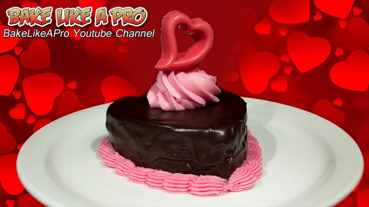 mini chocolate valentines cake with dark chocolate ganache youtube - Valentine Cake Recipes